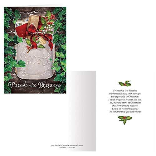 Friendship Blessings Christmas Card Set of 20