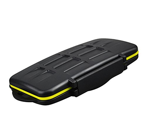JJC Bolsa de almacenaje para 24 memorias micro SD, resistente al agua, Negro
