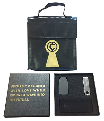 Think Crucial Bitcoin Hardware Wallet Carrying Case | HODL Cryptocurrency BTC Cold Storage Wallet Case | Compatible with Ledger Nano S, Keepkey, Trezor Hardware Wallets