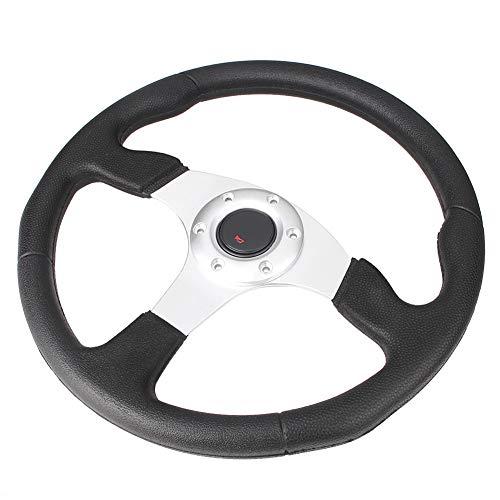 GZYF 14 inches / 350mm Silver 6 Bolt Steering Wheel ()