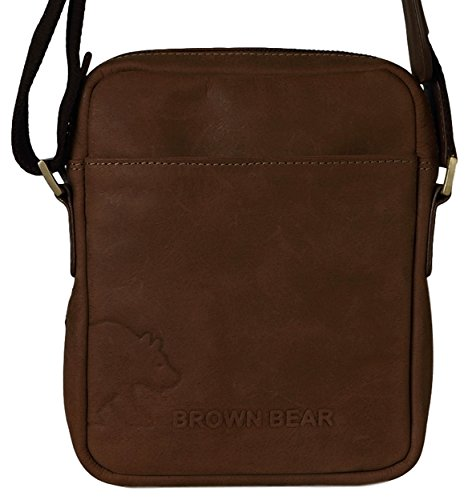 Brown Bear , Borsa Messenger  Uomo Donna Unisex adulto marrone marrone 0