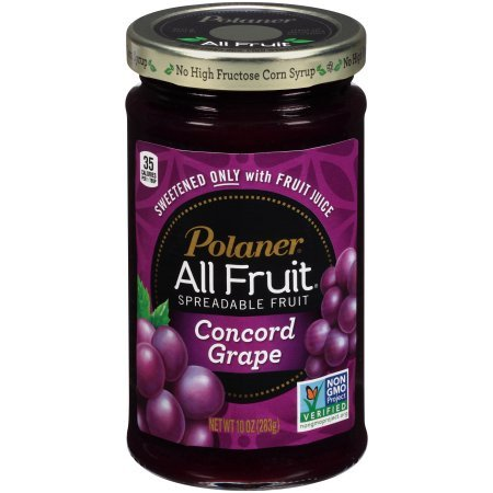 PACK OF 18 - Polaner All Fruit Spreadable Fruit Concord Grape, 10.0 OZ by Polaner All Fruit (Image #1)
