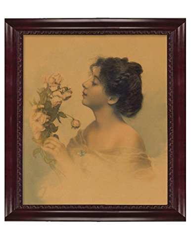 Victorian Trading Co Becca's Bouquet Portrait of Lady w/Roses Watercolor Print