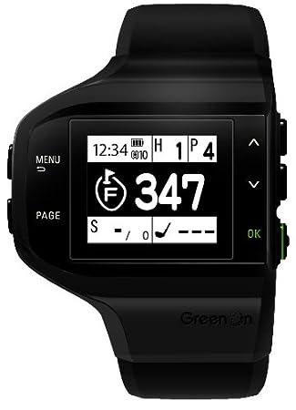4474347892 GreenOn(グリーンオン) ゴルフナビ GPS ザ・ゴルフウォッチ 横型 ブラック GWH-