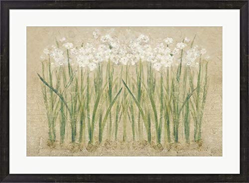 Narcissus Row Cool by Cheri Blum Framed Art Print Wall Picture, Espresso Brown Frame, 34 x 25 inches