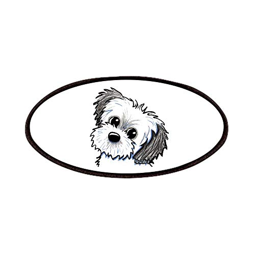 CafePress Shih Tzu Sweetie Patches Patch, 4x2in Printed Novelty Applique Patch
