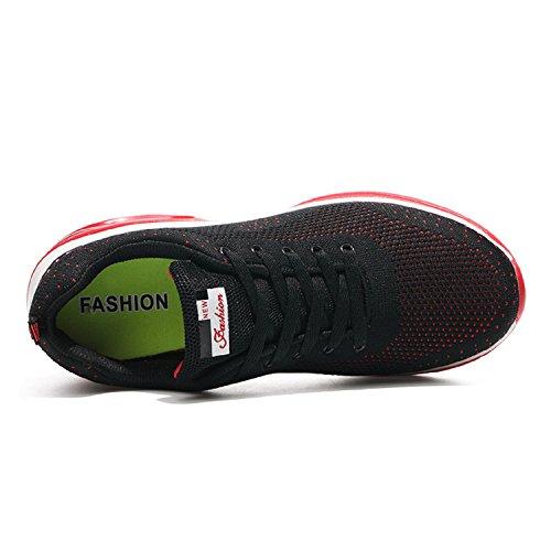 Sportive Running Tqgold® Casual Uomo All'aperto Da Rosso Interior Fitness Sneakers Donna Ginnastica Corsa Scarpe q6Yfq