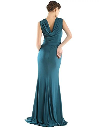 Vickyben - Vestido - Plumaje - para mujer Azul