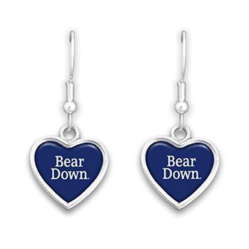 Arizona Wildcats Heart (Arizona Wildcats Heart Slogan Earrings)