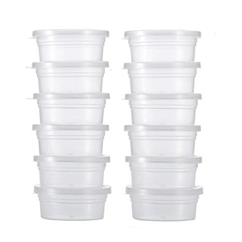 12 Pack transparent storage containers, Plastic Sewing Pillow Forms Foam Storage with Lids, Craft Foam Supplies Buttons Pins Beading Beads Box Organizer Bottles for jewelry small objects (Clear) Mothers Day Flower Pots