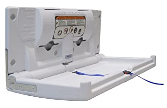 """Continental 8252-H, White Horizontal Baby Diaper Changing Station, 34-1/4"""" Length x 4"""" Width x 18"""" Height (Case of 1)"""