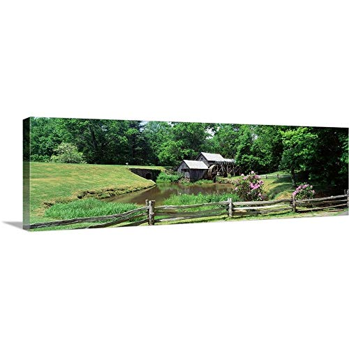 Furniture Ridge Blue (Canvas on Demand Premium Thick-Wrap Canvas Wall Art Print entitled Virginia, Blue Ridge Parkway, Mabry Mill, Milepost 1761 36