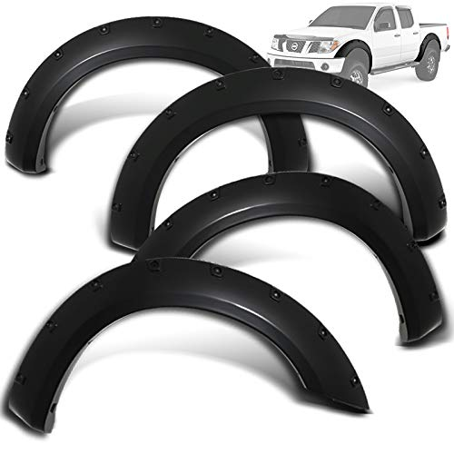 Modifystreet Rivet Pocket Style Fender Flares for 05-16 Nissan Frontier Styleside 73.3