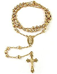 Rosary Necklace brass metal