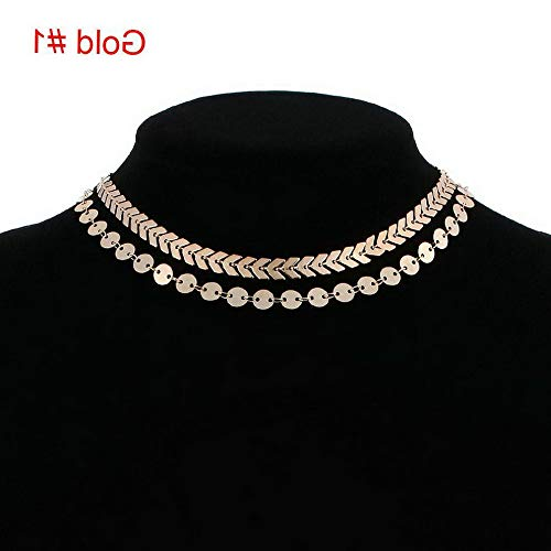 Mikash Fashion Women Multi-Layer Crystal Choker Collar Chain Necklace Pendant Jewelry   Model NCKLCS - 40961  