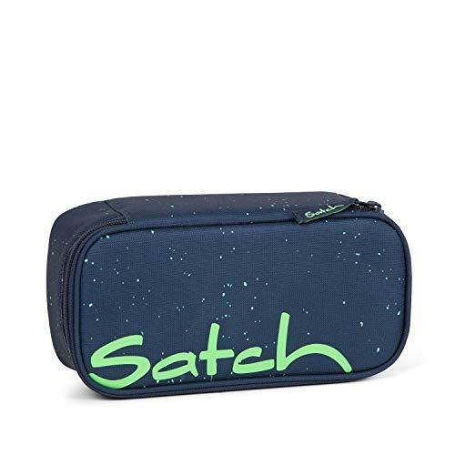 Satch Schlamperbox Space Race, Mäppchen mit extra viel Platz, Trennfach, Geodreieck, Blau