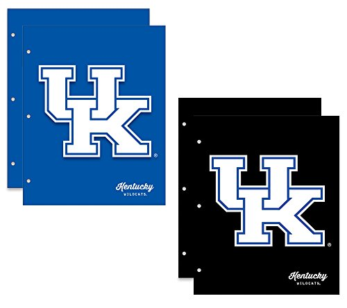 University of Kentucky Wildcats 2-Pocket School Folders, 4 Pack, 9.5