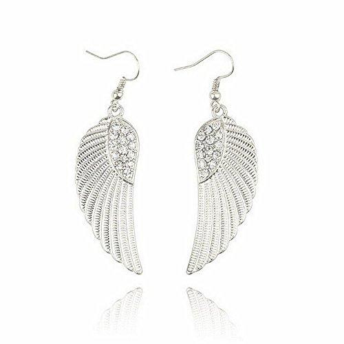 Bolayu Hot Fashion Women Girls Angel Wings Earrings