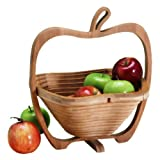 Natural Living Collapsible Bamboo Apple Basket