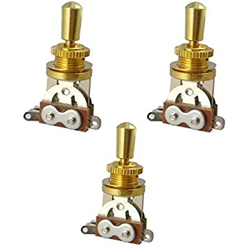 JD.Moon Electric Guitar 3 Way Toggle Switch Pickup Selector Switch with Brass Tip Knob Chrome