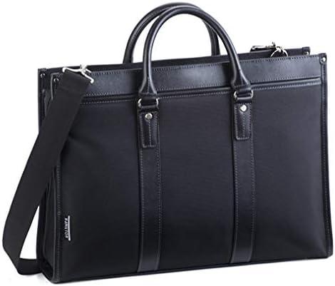 平野鞄 ビジネスバッグ ブリーフケース メンズ 軽量 自立 ブランド 大容量 大きめ B4 A4 A4 ショルダーベルト 大開き 黒 ブラック 横幅42cm +オリジナル高級ムートングローブ