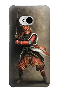 S0796 Japan Red Samurai Case Cover for HTC ONE M7