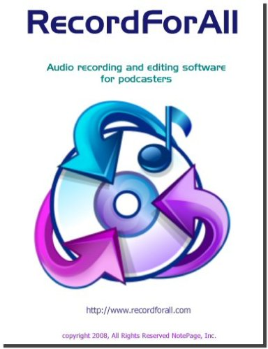 RecordForAll Audio Recording Software NotePage Inc. Rec-8192