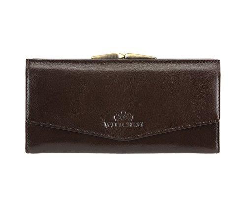 WITTCHEN portafoglio, Marrone, Dimensione: 9x18.5 cm - Materiale: Pelle di grano - 21-1-079-4