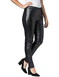 732d9e50ce1 Women s Plus Size Ankle Zip Leather And Ponte Jeggings