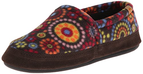 Acorn Women's Moc Slipper, Chocolate Dots, Large/8-9 M US