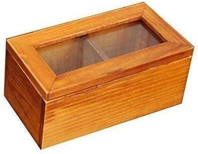 XWYSSH Los organizadores Dos Compartimentos pequeña Caja de Madera de Cristal de la Vendimia joyero Caja de Almacenamiento de Madera joyería con Tapa abatible (Color : 1): Amazon.es: Hogar