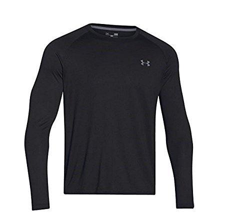 Under Armour Men's Tech L/S T-Shirt Carbon Heather / Black XXL & Visor Bundle