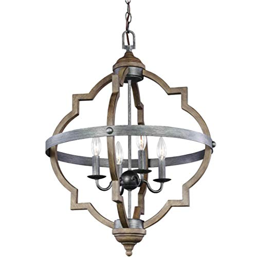 Sea Gull Lighting 5124904-846 Socorro Four-Light Hall or Foyer Light Fixture, Stardust Finish
