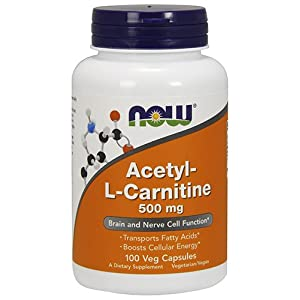 NOW Acetyl L Carnitine 500 mg,100 Veg Capsules