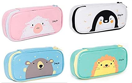 Straightforward Fashion Cartoon Printing Cosmetic Bag Case Novelty Canvas Pencil Case Make Up Bag Portable Multifunction Organizer For Cosmetics Cosmetic Bags & Cases Luggage & Bags