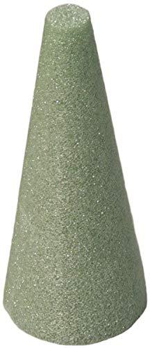 (FloraCraft Styrofoam Cone 3.8 Inch x 8.8 Inch Green)
