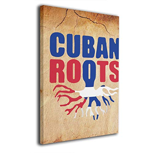 - Rolandrace Cuban Roots Cuba Pride Flag -Canvas Prints Wall Art Decor Geometry Wall Artworks Pictures for Living Room Bedroom Decoration-12x16 Inch
