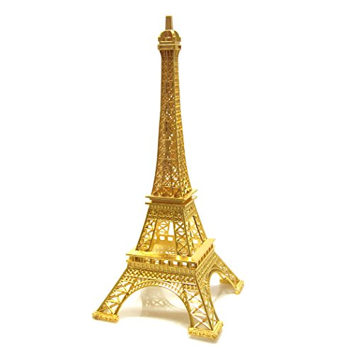 Eiffel Tower Paris France Stand, 15-Inch Tall, Gold