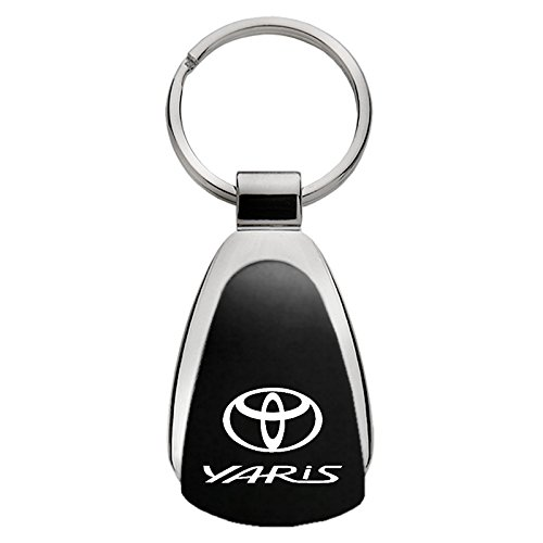 INC Au-Tomotive Gold Toyota Yaris Black Teardrop Keychain