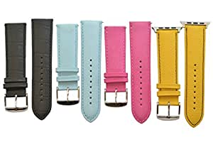 Deepra - Vibrant Edition - Colorful Leather bands for Apple Watch 42mm