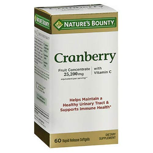 Nature's Bounty Cranberry Dietary Supplement 60 Soft Gels (Pack of 3)