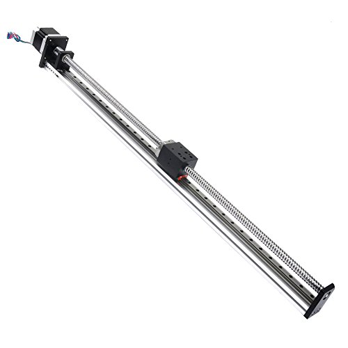 FUYU FLS40 Linear Guide Slide Table Ball Screw Motion Rail CNC Linear Guide Stage Actuator Motorized Nema 23 Stepper Motor[500mm Stroke]