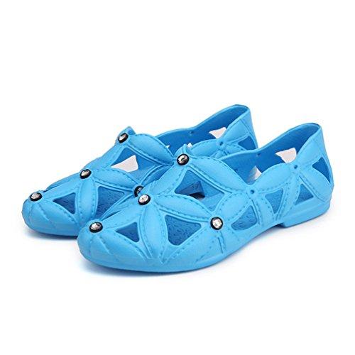 De Mujeres Playa Azul De del Los Deslizadores Las Sandalias De Resbalón La Agujero Zapatos Agua Anti Lvguang Caminando del del Hqx0BU5Y