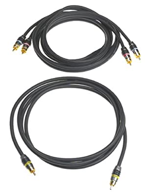 Monster MV2AV25-2M Composite Video with RCA Audio Cable Kit (2 meters) by Monster