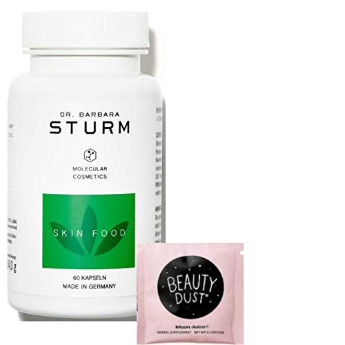 Dr. Barbara Sturm Skin Food 60 Vegan Capsules! Japanese Knotweed Root Extract is Rich in The Anti-Aging Compound Resveratrol and Antioxidants! Improves Smoother, Softer and Healthy Glow! (Skin Food)
