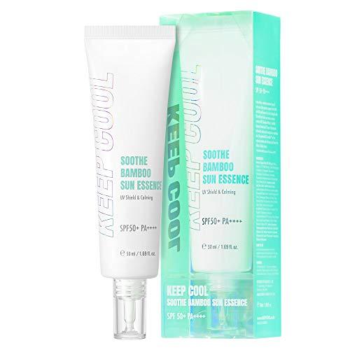 KEEP COOL Soothe Bamboo Sun Essence SPF50+ PA++++ 1.69 Fl Oz Reef-safe, Non-nano Sunscreen, Strong UV, Blue Protection…