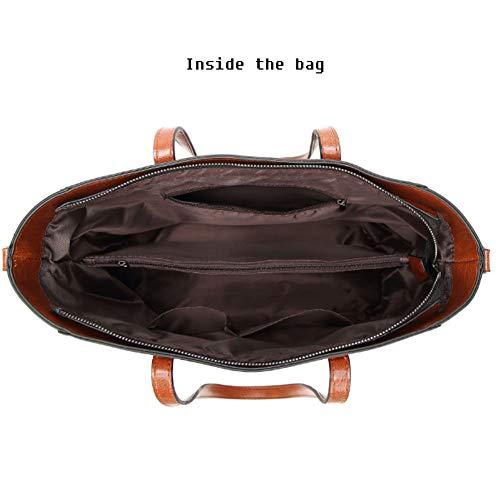 Casual Cuer Mujer Audburn De Capacidad Totalizador Bolsos Bags Gran Shoulder Hombro Marrón tzwqz