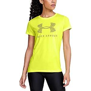 Best Epic Trends 41TA2-ZMoHL._SS300_ Under Armour Women's Tech Logo Graphic Crew Neck Short Sleeve T-Shirt