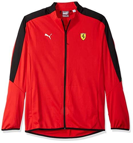 PUMA Men's Standard Scuderia Ferrari T7 Track Jacket, F Rosso Corsa, L