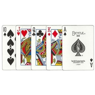 3 deck shrink pack BICYCLE (Baisukuru) 808 STANDARD rider back playing cards poker size blue (japan import)